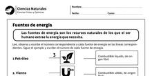 Ficha 1: Fuentes de energía