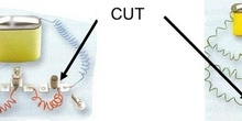 Cut in a series and parallel circuits