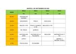 CALENDARIO EXÁMENES 2º BTO EXTRAORDINARIA SEPTIEMBRE 2020