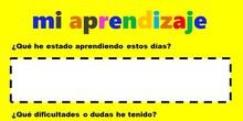 Instrumentos de evaluación: diario de aprendizaje