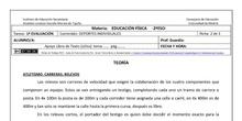 Ficha de Atletismo 2 para 2º ESO