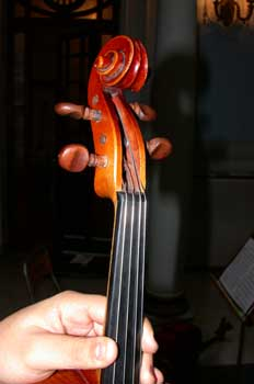 Clavijero de una viola