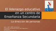 Propuesta didáctica del liderazgo educativo