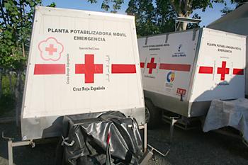 Plantas potabilizadoras, campamento Cruz Roja, Melaboh, Sumatra,