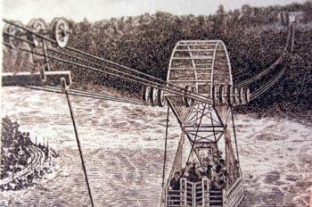 Transbordador sobre el río Niágara