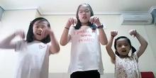 Mónica, Sandra y Zixin