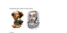 SHAKESPEARE VERSUS CERVANTES