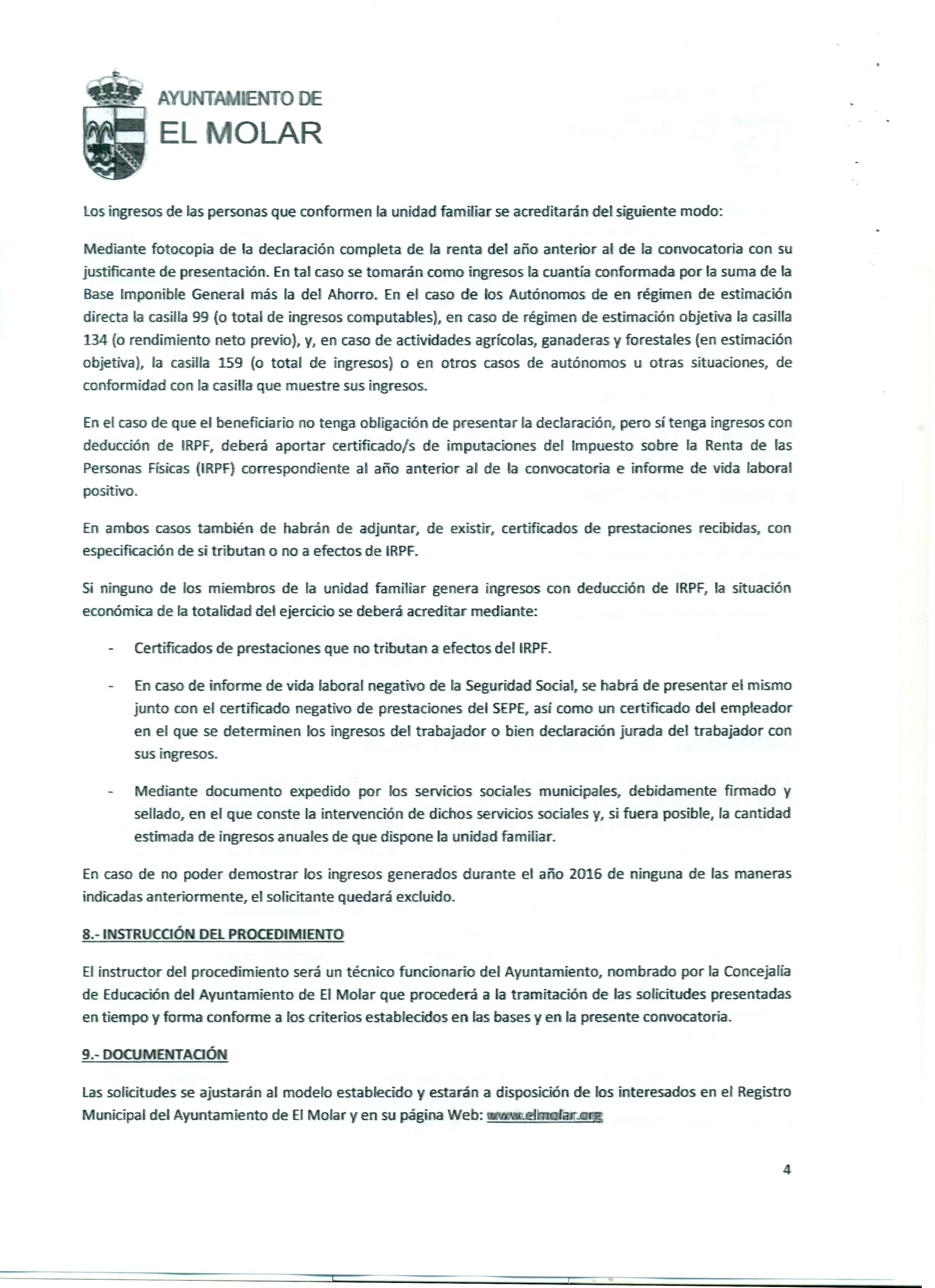 Convocatoria de ayudas económicas, que otorga la Concejalía de Educación del Ayuntamiento de El Molar, para la adquisición de libros de texto para el curso académico 2017-2018 4