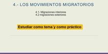 Las migraciones interiores de la población española