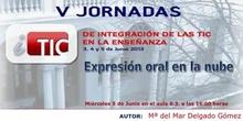 """Ponencia de D Mari Mar Delgado y Virginia Espinosa """"Expresión oral en la nube"""""""