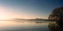 Lago Taupo, de origen volcánico, Nueva Zelanda