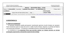 Ficha de Cualidades Físicas Básicas  -Resistencia 1 para 1º ESO