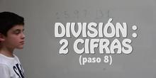 La división entre dos cifras. Paso 8A