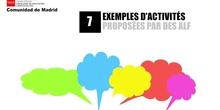 7. Des exemples d'activités proposées par les ALF en classe