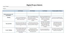 Rúbrica Proyecto digital