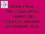 CONCURSO HIMNO DEL  COLEGIO JARAMA DE RIVAS