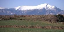 Vista de la Sierra de Guara nevada, Huesca