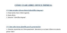 USO DE POWERPOINT LIBRE OFFICE