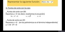 Representación de funciones polinómicas