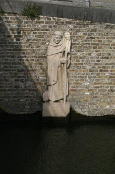Medidor de caudal en el Puente Carmers, Brujas, Bélgica