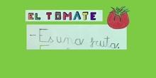 El tomate. Izan 2º B