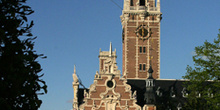 Torre de la Biblioteca de la Universidad Central, Lovaina, Bélgi