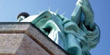 Detalle de la Estatua de la Libertad, Nueva York, Estados Unidos