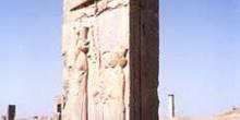Puerta en las ruinas de Persépolis, Irán