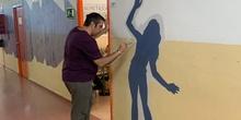 Intervención artística en el pasillo de 2º ESO del edificio B 5