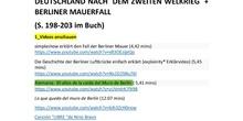 Deutschland nach dem Zweiten Weltkrieg + Mauerfall (Arbeitsblatt) - 4º ESO