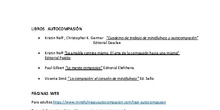 Materiales Mindfulness y autocompasión. Seminario Atención plena y Fortalezas personales. IES Salvador Dalí. Curso 2020-21