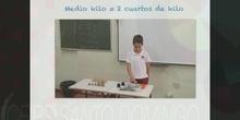 Educación Primaria 3ºA Unidades de masa Matemáticas Formación