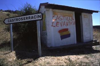 Parada de autobús, Castroserracín, Segovia, Castilla y León