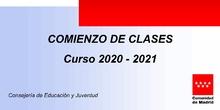 INFORMACIÓN SOBRE EL COMIENZO DEL CURSO 2020/21