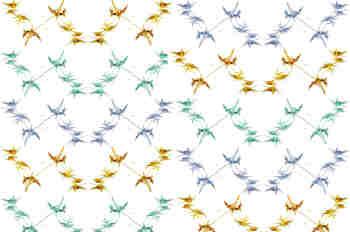 Composición tricolor de cenefas