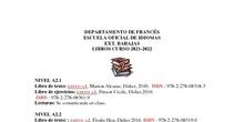 Libros de texto francés 2021-2022