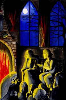 Alonso y Beatriz en el salón