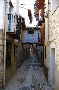 Calles pintorescas en Valderrobres, Teruel