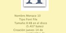 Fuente de pantalla Mac OX