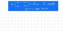 Relación entre el rango de una matriz cuadrada y su determinante