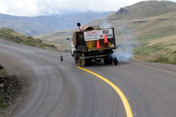 Carretera de Latacunga a Zumbahua, Ecuador