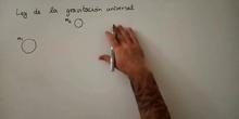 Fuerza gravitatoria - Ley de la Gravitación Universal