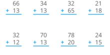 Mate sumas sin llevar 2 cifras