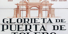 Indicativo de calle, Glorieta de Puerta de Toledo, Madrid
