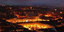 Alfama al anochecer desde el Castillo de San Jorge, Lisboa, Port