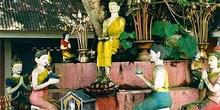 Esculturas de ofrendas a Buda, Tailandia