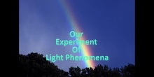 Experiment on light phenomena