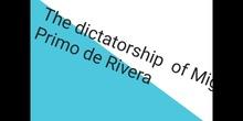 PRIMARIA - 6º - SOCIAL SCIENCE - PRIMO DE RIVERA DICTATORSHIP - FORMACIÓN