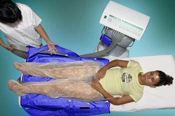 Presoterapia: retirada de tubos