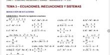 Explicación de la resolución de ecuaciones racionales y resolución del ejercicio 1 apartado q del tema